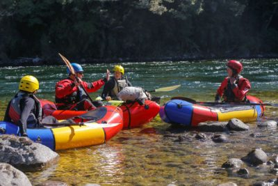 Packrafter training on river